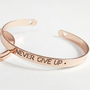 Jewelry - 🆕 Never Give Up Cuff Bracelet NWOT